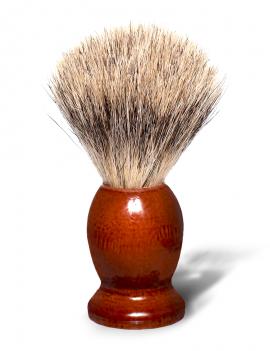 Blaireau de rasage en bois