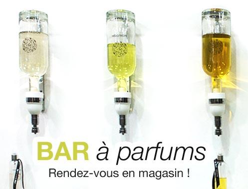 Nouveau composez votre parfum personnalisé au bar à parfums